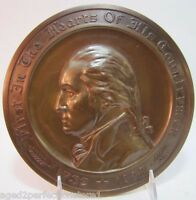 1930's AUTOMOBILE MUTUAL INS Co Adv Sign Plaque GEORGE WASHINGTON 1732 1932