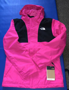 The North Face Girl's Mt. View Triclimate Jacket Hooded 3-in-1 Pink Large 14 16