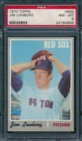 1970 Topps Set Break #665 Jim Lonborg PSA 8 *OBGcards*