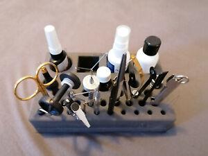 Fliegenbindewerkzeug divers, gebraucht, neuwertig, in Schaumstoffhalterung