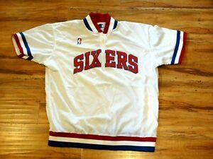 JOHNNY DAWKINS GAME USED WORN 1990 PHILADELPHIA 76ERS WARM UP SHOOTING SHIRT