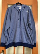 Men's Adidas Ultimate Hoodie 2 XL Blue Front Pocket 100% Polyester Pullover