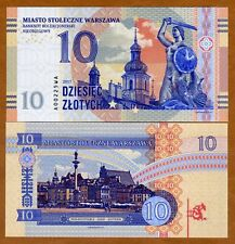 Poland, Warszawa, 10 Zlotych, Private Issue, Specimen, Essay, 2017, UNC