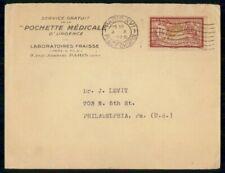 MayfairStamps France 1925 Paris to Philadelphia Pennsylvania Cover WWG19681