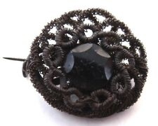Mid-Victorian mourning brooch