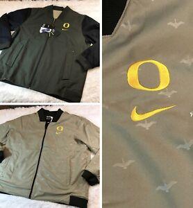 Nike $250 Oregon Ducks Reversible Bomber Jacket Size 2XL Men's CK5717-355 RARE!
