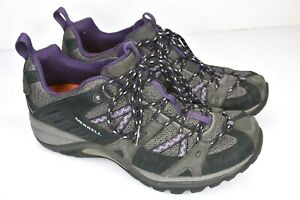 Merrell Womens Size 8.5 Outdoor Sport Hiking Shoes Black Perfect Plum Purple