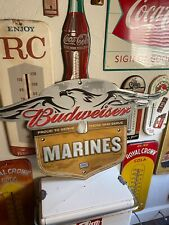 BUDWEISER Beer SALUTES MARINES PROUD TO SERVE THOSE  BAR SIGN