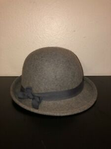 Goorin Bros Women's Grey Wool Derby Bowler Hat Size XS
