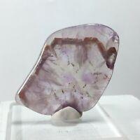 81.45ct Polished Auralite 23 Amethyst Slice Crystal Gem Mineral Tumbled S37