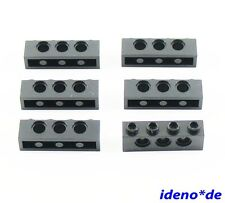 LEGO Technic 6 Stk. Loch Stein Balken 1 x 4 schwarz 3701 black 370126  NEU