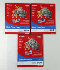 "New Canon Matte Photo Paper MP-101 (8.5"" X 11"") 50 Sheets (7981A004) Lot 3 (150)"