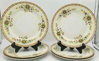 """Vintage Yamaka China Bread and Butter Plates YAM6 Pattern 6.5"""" Set of 4"""