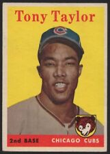 1958 TOPPS #411 TONY TAYLOR – ROOKIE CARD – EX-MT (6)