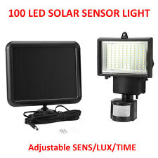 LED Solar Powered LED Floodlight Motion Sensor Garden Outdoor Security Lights 100 LED 1 Light