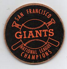 1960s San Francisco Giants National League Champion Coaster in Black