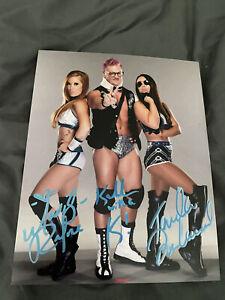The Influence Tri-Signed 8x 10 Madison Rayne, Kaleb, Tenille Dashwood  - Impact