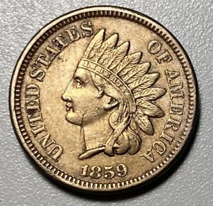 1859 Indian Head Cent 1C Penny