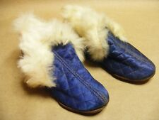 I.O.O.F. INDIANAPOLIS LYN I1901 CHILDS SLIPPER QUILTED RABBIT FUR LINED CHARITY