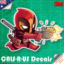 Hulk Deadpool Gun Runner War Machine Iron Man Car Vinyl Decal Sticker 3M 100mm