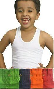 SOFTY® Kids Boys Children Vest Cotton Sleeveless Summer Tank Top School Wear