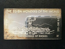 1971 Kennedy Mint The Colossus of Rhodes Silver Art Bar KEN-16VI P1671