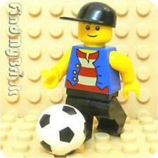 M717 Lego City Soccer Player Minifigure with Soccer Ball - NEW