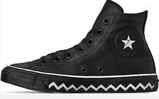 Converse All Star High Black/White 564948C SNEAKERS UNISEX Leather Pelle nero