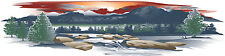 1 RV TRAILER MOTORCOACH MOUNTAIN SCENE DECAL GRAPHIC -CUS