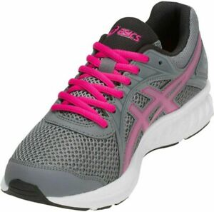 ASICS Women's Jolt 2 Running Shoes  6, Steel Grey/Pink Rave
