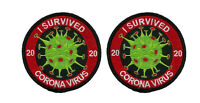 TP03333 I SURVIVED BIOHAZARD CRISIS of 2020 IRON ON 2 PATCH SET