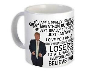Gift Mug : for Marathon Runner Donald Trump Great Funny