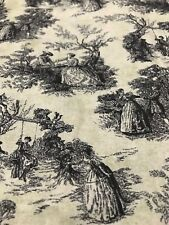 PARK WALK CLASSIC TOILE COTTON FABRIC/FRENCH SCENES/VINTAGE STYLE/ONE YARD