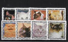 EQUATORIAL GUINEA 1978 CATS MNH, MICHEL 1403/1410