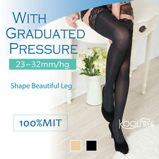 2 Pairs Thigh High FDA Approval Compression Stockings 23-32mmHg