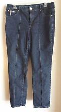 Women's Style & Co.Tummy Control Jeans Size 12 Rhinestones straight leg 5 pocket