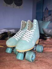 Roller Derby Candi Girl Carlin Quad Artistic Roller Skates Seafoam Ladies sz 8