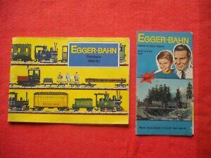 Rare Vintage EGGER BAHN Catalogue 1966/67 Model Railway HO/OO Guide & Leaflet