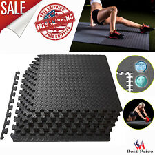 Puzzle Exercise Mat Foam Tiles Protective Flooring Gym Equipment Workout 24Sq Ft
