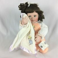 "Ashton Drake ""The Lord is my Shepherd"" Precious Moments Porcelain Baby Doll COA"