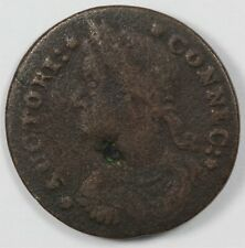 1787 Connecticut Draped Bust Left Colonial Coin - Miller 33.1-Z.19 Rarity 5