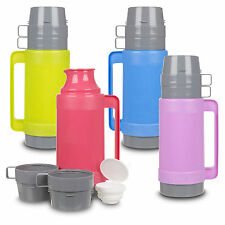 1L Vacuum Insulated Flask Hot & Cold Food Drink Thermos Camping Bottle Mug Lunch