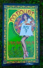 "No Doubt 2002 Poster Austin Music Hall Texas 22.5"" x 13.5"" Signed Bob Masse"