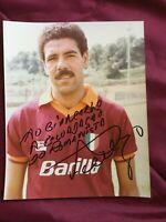 Autogramm TONINHO CEREZO-AS Roma/Rom-Großfoto 80er-NS BRASILIEN-per Giancarlo!
