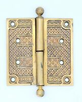 ANTIQUE CAST BRONZE EASTLAKE DOOR HINGE 4 1/2 SINGLE