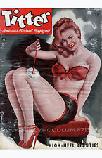 Pin Up Girl Poster 11x17 Titter Magazine Cover Art High Heeled Beauties