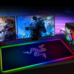Large RGB Mouse Pad Xxl Gaming Mousepad LED Mause Pad
