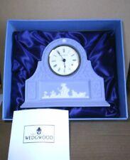 Wedgwood Jasperware Blue Mantel Clock Boxed