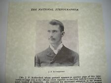 1889 Rare Young Rutherford Photo Watchtower I.B.S.A.