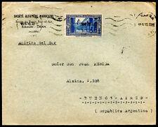FRANCE ALGERIA TO ARGENTINA Cover 1939 RARE DESTINATION VF
